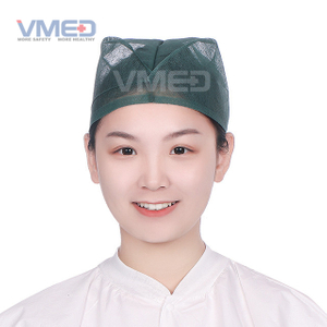 Disposable SPP Non-woven Dark Green Doctor Cap