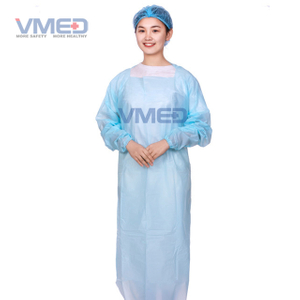 Light Blue CPE Gown with Waist Loop