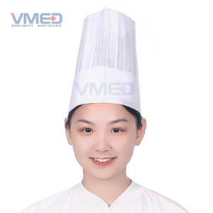 Disposable SPP Non-woven White Chef Hat