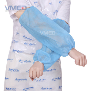 Disposable Blue Non-woven Sleeve Cover