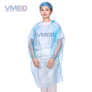Disposable Blue PE Rain Coat