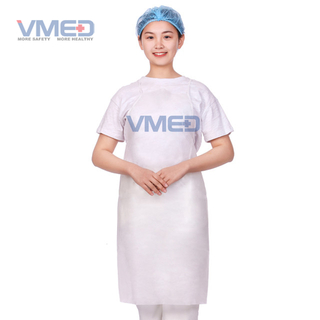 Disposable White SMS Apron