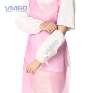 Disposable White Micro-porous Non-woven Sleeve Cover