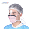 Disposable SPP Non-woven Pink Face Mask With Anti-fog Plastic Eye Shield
