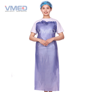Disposable Purple PVC Apron
