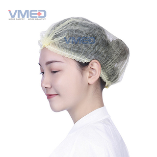 Disposable Surgical Non-woven Mob Cap with single elastic